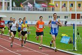 ZHUKOVSKY, MOSCOW REGION, RUSSIA - JUNE 27, 2014: Athletes in the men 2000 meters during Znamensky M