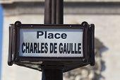 Chales De Gaulle Square, Paris, Ile De  France, France