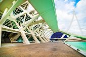 VALENCIA, SPAIN - APRIL 24, 2014: Designed by Santiago Calatrava and Felix Candela, the project unde