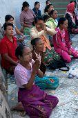 Peoples Praying Kyaikhtiyo Pagoda.
