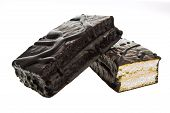 Chocolate Cookie Bars. Isolated On White Background With Clipping Path.