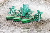 Paddle Wheel Aerator, Closeup