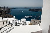 Beautiful White Architecture And View On The Sea