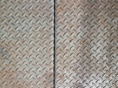 Real Diamond Plate Steel Background