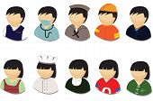 Set of people icon vector illustrations