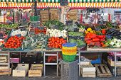 image of farmers market vegetables  - Fresh and organic vegetables at farmers market - JPG