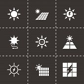 Vector solar energy icon set