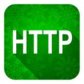 http flat icon, christmas button