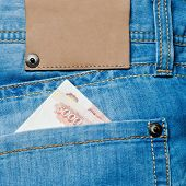 Jeans Pocket With Banknotes