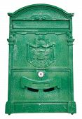Green Post box.