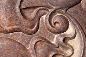 Curved Spiral Design Horizontal