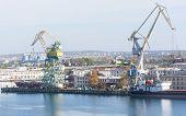 Large Crane In Port