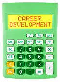 Calculator With Career Development  Isolated