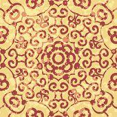 Henna ornamental round lace flower