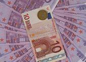 Euro and drachma.