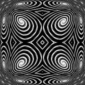 Design Monochrome Spiral Movement Background