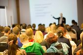 stock photo of seminar  - Faculty lecture and workshop - JPG