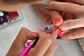 Beauty Treatment Of Fingernails, Manicure