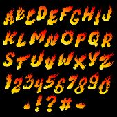 stock photo of fiery  - Fire font - JPG