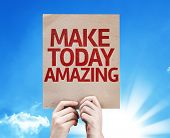 Make Today Amazing card with sky background