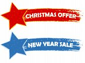 Christmas Offer, New Year Sale - Two Drawn Banners
