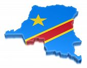 Democratic Republic of the Congo (clipping path included)
