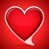 Heart shaped speech bubble