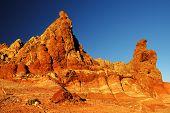 Roques de Garcia in sunset light, Teide National Park, Tenerife, Canary Islands, Spain