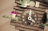 Cuckoo Wall Clock, Three O'clock