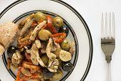 Olive Mushroom and Tomato Antipasti