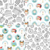 Vector christmas background set
