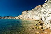 Remote Beach Of Scala Dei Turchi