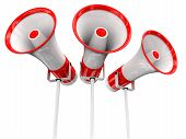 Three loudspeakers