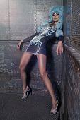 Sexy Fashion Woman In Modern Dress