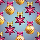 picture of weihnachten  - New Year pattern with Christmas ball - JPG