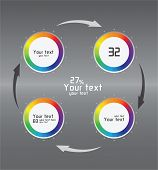 Color Infographics As Circulation