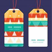 Vector vibrant ikat stripes vertical stripe frame pattern tags set
