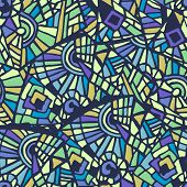Seamless Abstract Mosaic Multicolored Pattern. Vector Illustration