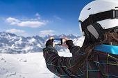 Photographing Winter Landscape Use Smart Phone