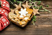 Christmas Decoration And Handmade Gingerbread Cookies