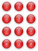 Постер, плакат: Красный телефон клавиатуры