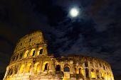 The Coliseum Under The Full Moon
