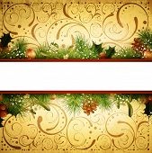 Vintage Christmas And New Year Frame