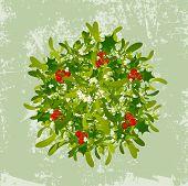 Mistletoe Vintage Background