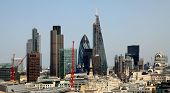 stock photo of willy  - City of London one of the leading centres of global finance.This view includes Tower 42 Gherkin,Willis 