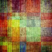 Vintage texture for background. With different color patterns: blue; green; red; orange; brown; yellow