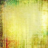 Old grunge template. With different color patterns: orange; brown; yellow; green