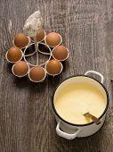 Pot Of Creamy Custard Sauce