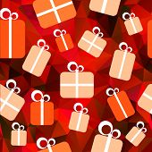 Seamless background with gifts