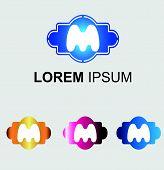 Постер, плакат: Letter M logo